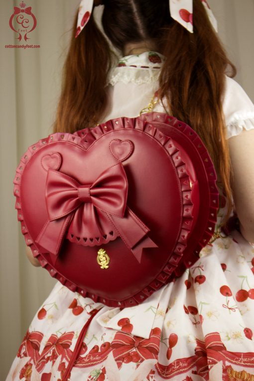 Bubble Heart Bag RED DELUXE [READY TO SHIP]