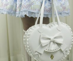 Bubble Heart Bag DELUXE WHITE