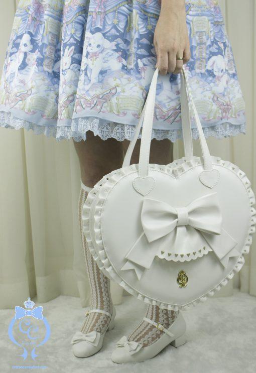 Bubble Heart Bag DELUXE WHITE