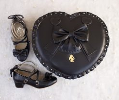 Bubble Heart Bag DELUXE BLACK