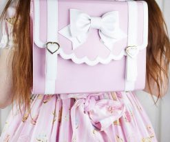 Frilly Academy 3way Bag - Pink with White