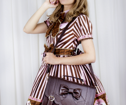Frilly Academy 3way Bag - Brown