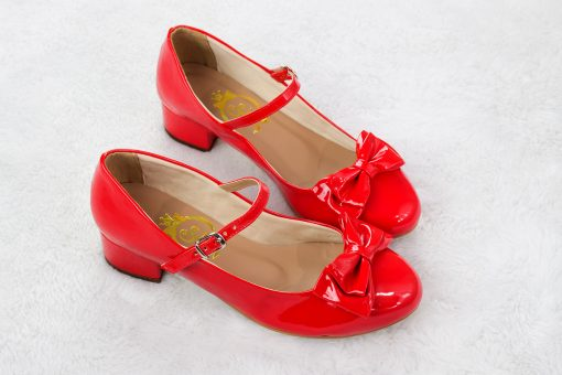 SAMPLE SALE - Charm Ribbon Red shiny 38EU