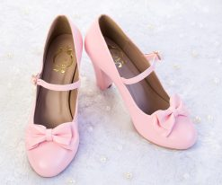 SAMPLE SALE - Charm Ribbon High Heel Pink 43EU