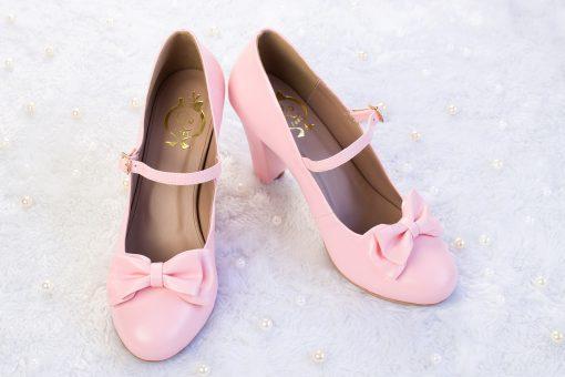 SAMPLE SALE - Charm Ribbon High Heel Pink 43EU