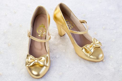SAMPLE SALE - Charm Ribbon High Heel Gold 41EU