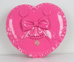Bubble Heart Bag DELUXE Shiny Hot Pink with Glitter
